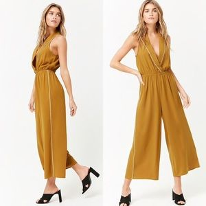 Collared Capri Jumpsuit by Forever21